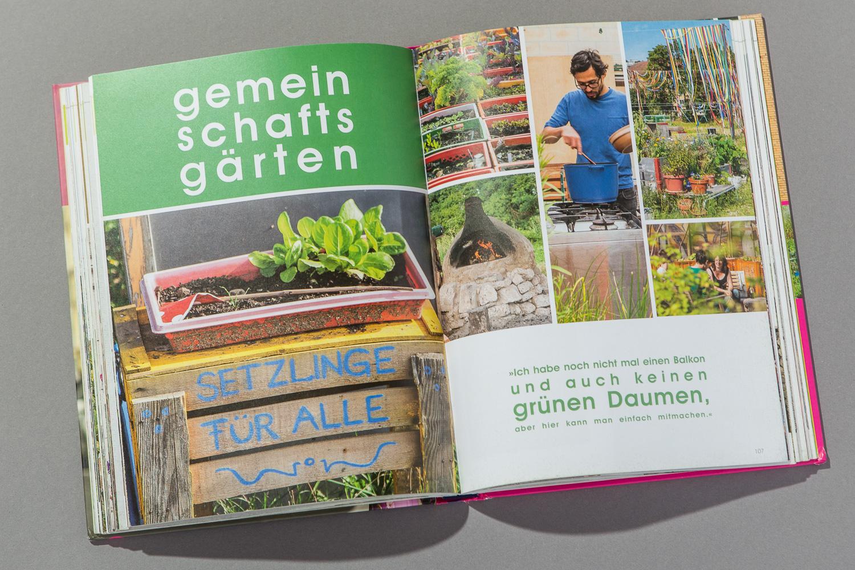 Konzept Gartenbuch urban gardening