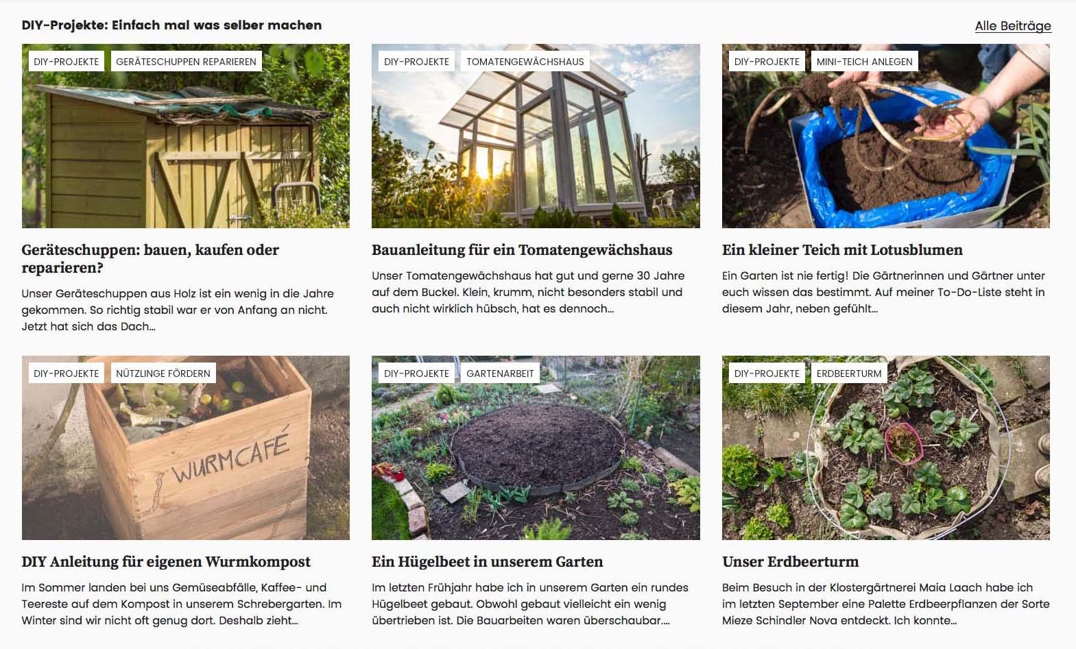 Konzept Gartenblog