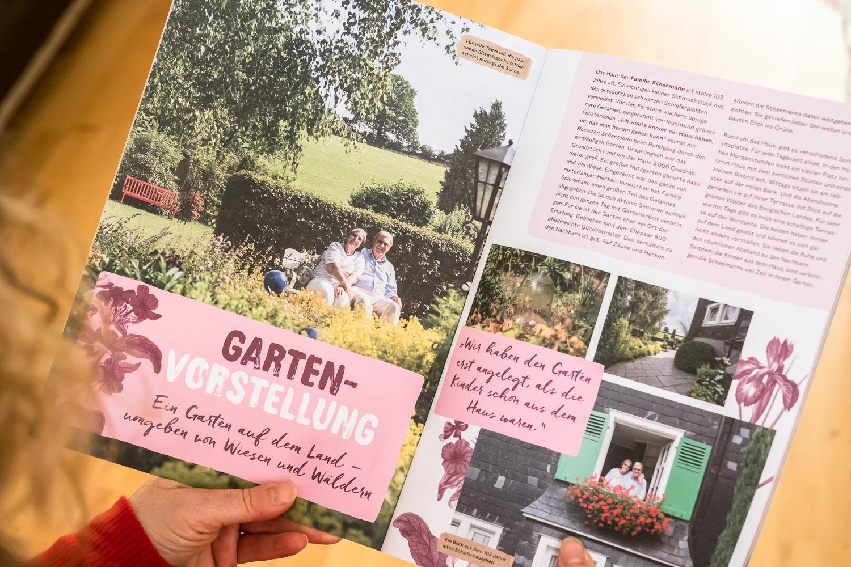 Konzept und Umsetzung Kundenmagazin Gartenreportage